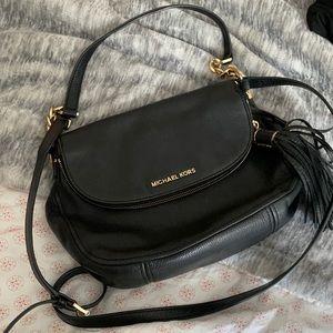 MK Black Leather Crossbody Bag